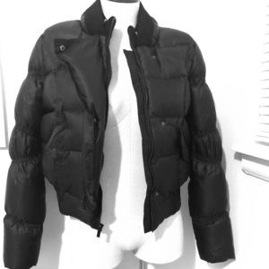 BCBGMaxazria puffer coat. Black. Down feathers.
